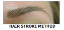 brows hair stroke