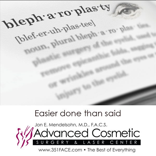 Easier done than said-Blepharoplasty