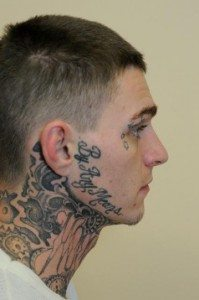 Side of Face and Neck Tattoos