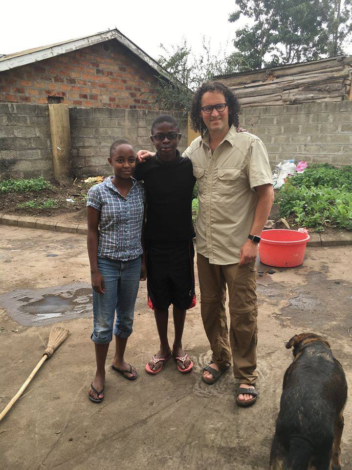 Dr. Mendelsohn with African orphanage kids