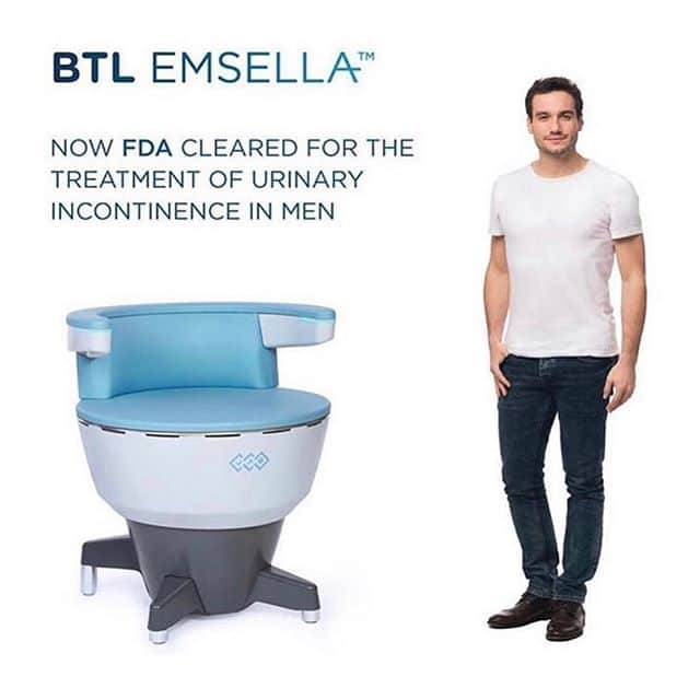 BTL Emsella for urinary incontinence in men
