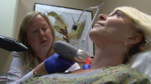 laser therapy on neck