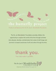 butterfly project wall poster